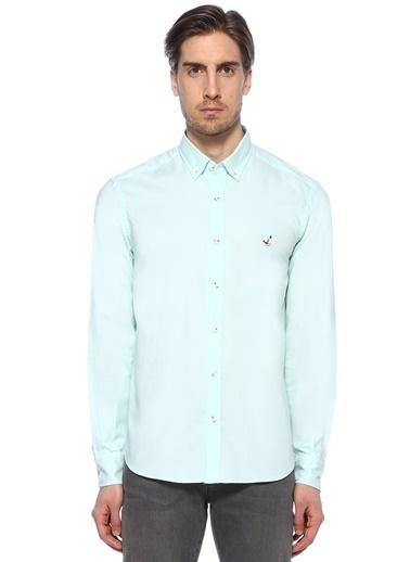 Beymen Club Uzun Kollu Klasik Gömlek Yeşil